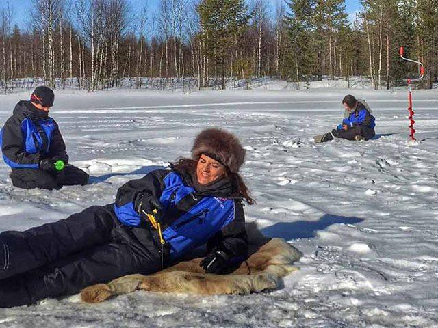 Reindeer Safari To Ice-Fishing Lake